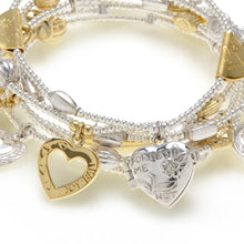 Load image into Gallery viewer, Heart and Soul MIXED METAL Bracelet 6-Set