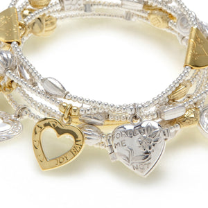 Heart and Soul MIXED METAL Bracelet 6-Set
