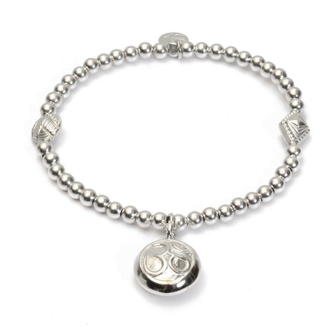 Om Medium Ball Bracelet - Good Charma