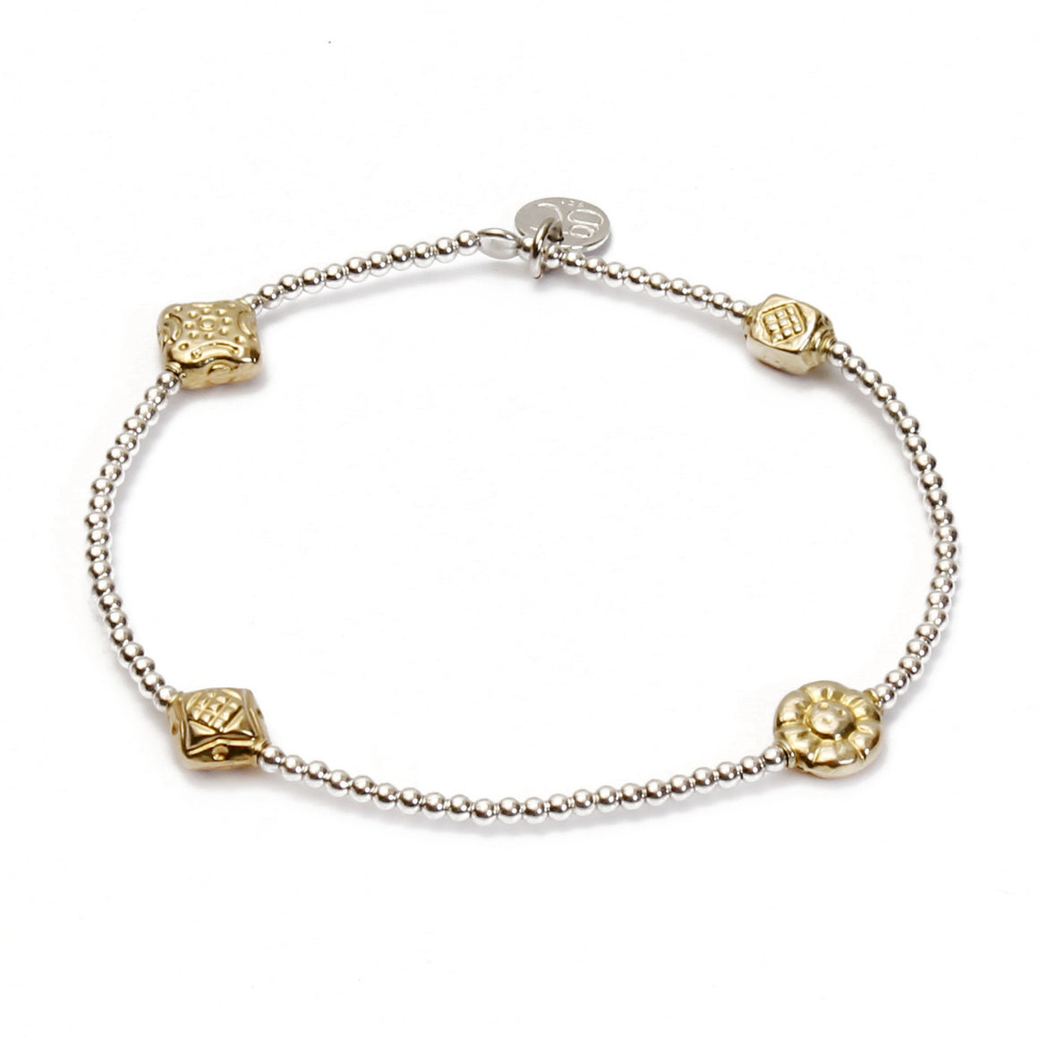 Gold Beaded Bracelet - good charma