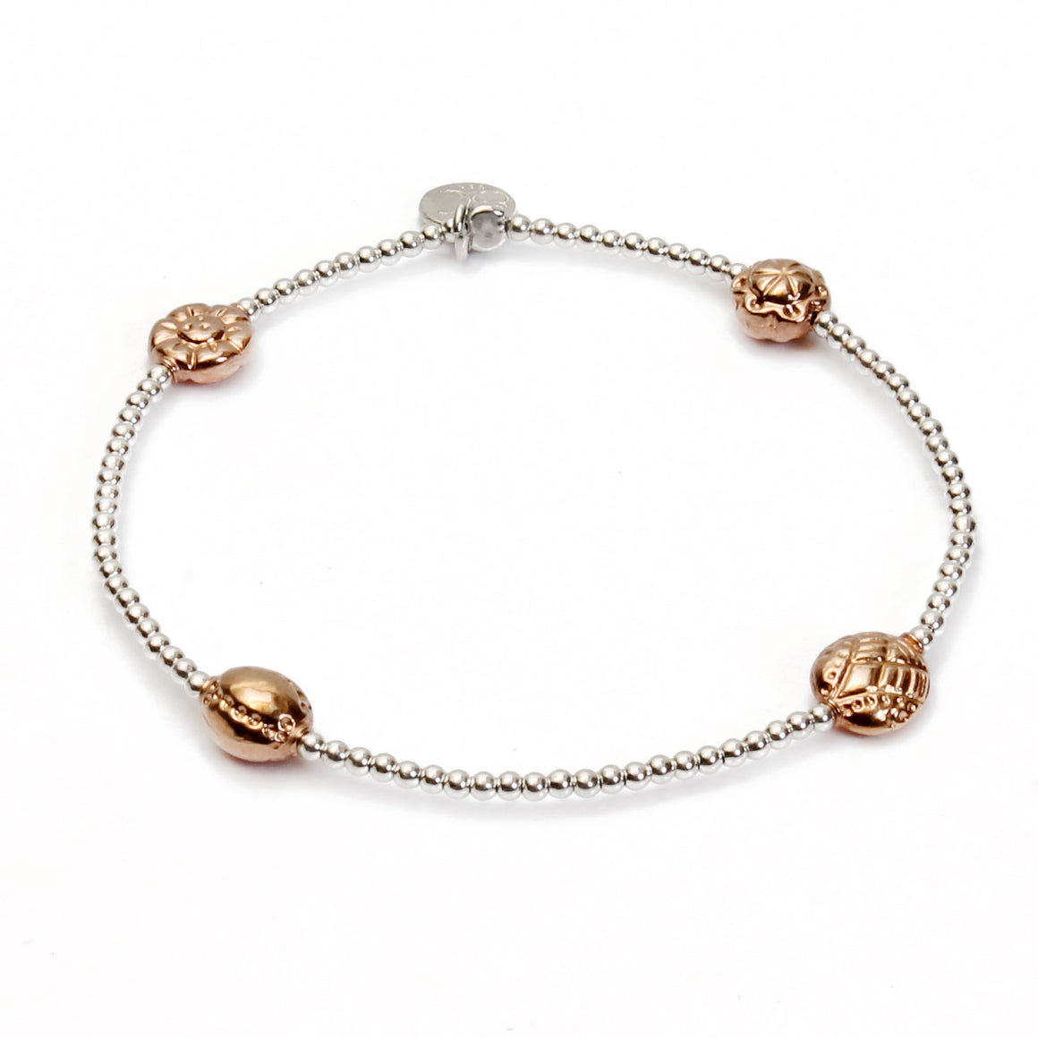 Rose Gold Beaded Bracelet - good charma