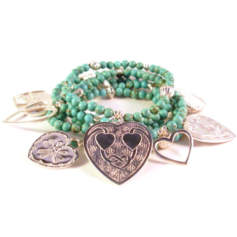 Super Love 6-Bracelet Turquoise Set - Good Charma