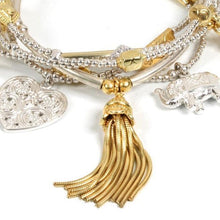 Load image into Gallery viewer, Spiritual Renewal Bracelet Set in Sterling Silver & Gold Vermeil