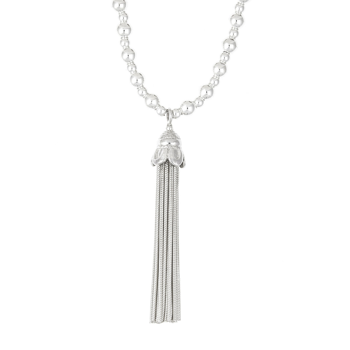 Tassel Medium Ball Necklace - Good Charma