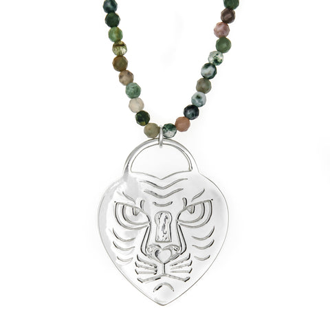 Lion Heart & Gemstone Necklace - Good Charma
