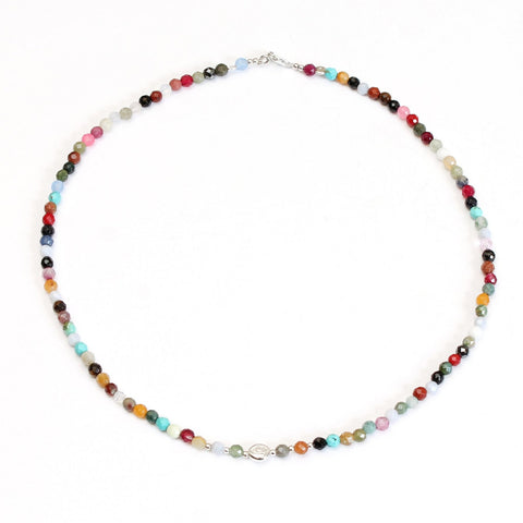 Evil Eye Multi Gemstone Choker Necklace - Good Charma