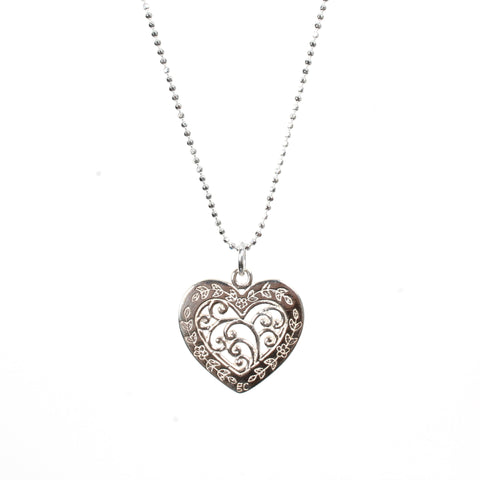 Filigree Heart Necklace - Good Charma