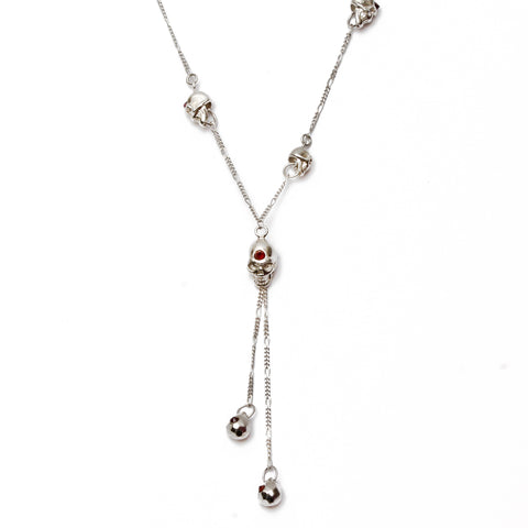 Skull with Garnets Necklace - Good Charma