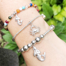 Load image into Gallery viewer, Crab Charm Bracelet in Sterling Silver
