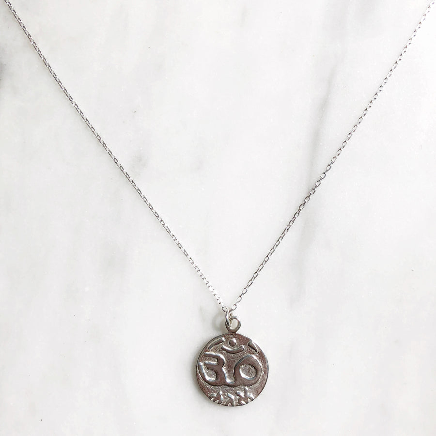 Om Medallion Necklace - good charma