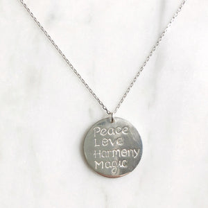 Peace Love Harmony Magic Necklace - good charma