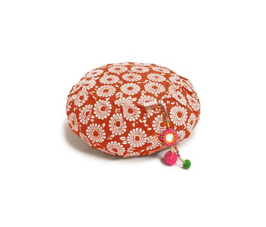 chattra Pomegranate Marigold Zafu Cushion