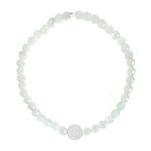 Amazonite & Sterling Silver Friendship Heart Bracelet