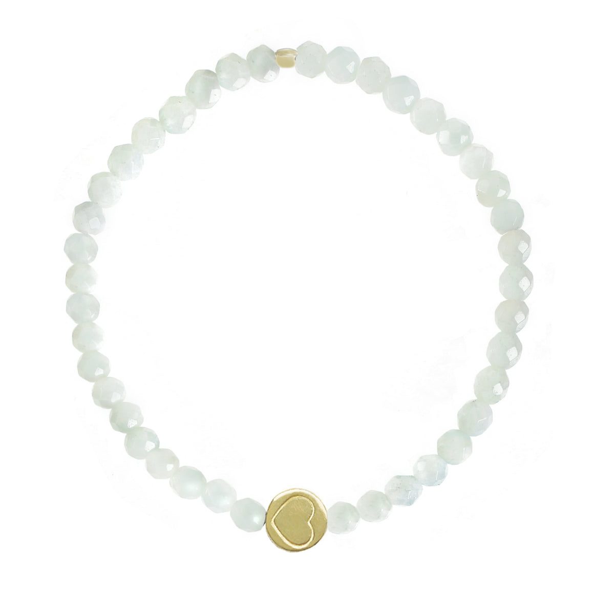 Amazonite & Gold Vermeil Friendship Heart Bracelet