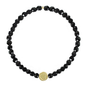 Black Onyx & Gold Vermeil Friendship Heart Bracelet