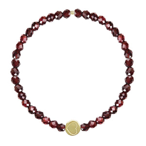 Garnet & Gold Vermeil Friendship Heart Bracelet