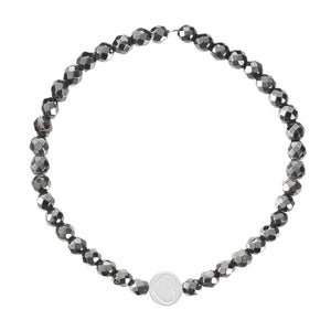 Hematite & Sterling Silver Friendship Heart Bracelet