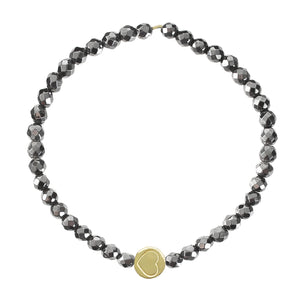 Hematite & Gold Vermeil Friendship Heart Bracelet