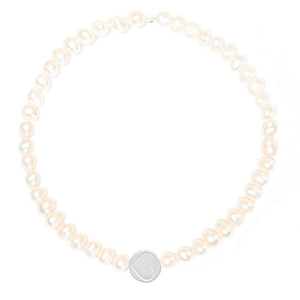 Pearl & Sterling Silver Friendship Heart Bracelet