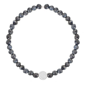 Sodalite & Sterling Silver Friendship Heart Bracelet