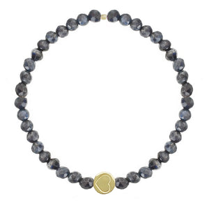 Sodalite & Gold Vermeil Friendship Heart Bracelet