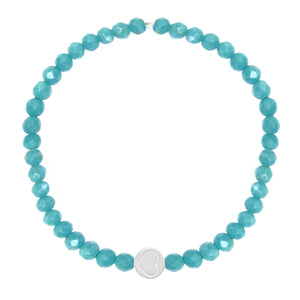 Turquoise & Sterling Silver Friendship Heart Bracelet