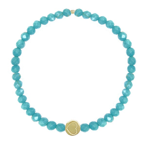 Turquoise & Gold Vermeil Friendship Heart Bracelet