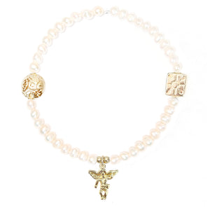 Angel with Wings Charm in Gold Vermeil