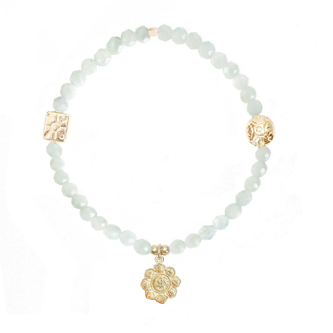 Lotus Flower Bracelet in Gold