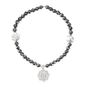 Lotus Flower Bracelet in Silver