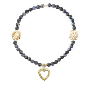 Open Heart Charm in Gold Vermeil