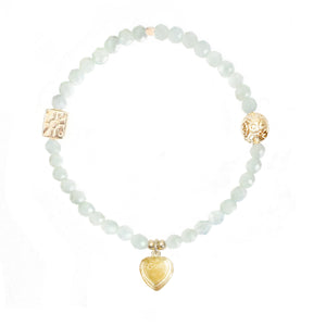 Puffed Heart Charm in Gold Vermeil