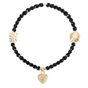 Heart with Dots Charm in Gold Vermeil