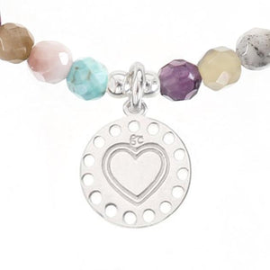 Heart Medallion Charm with Gemstone