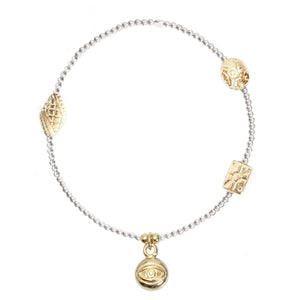 Evil Eye Charm in Gold Vermeil
