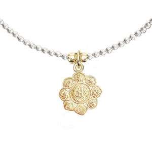 Lotus Flower Charm in Gold Vermeil