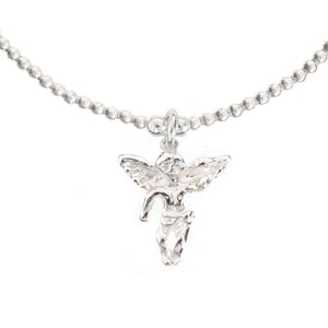 Angel with Wings Charm in Sterling Silver
