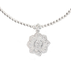 Lotus Flower Charm in Sterling Silver