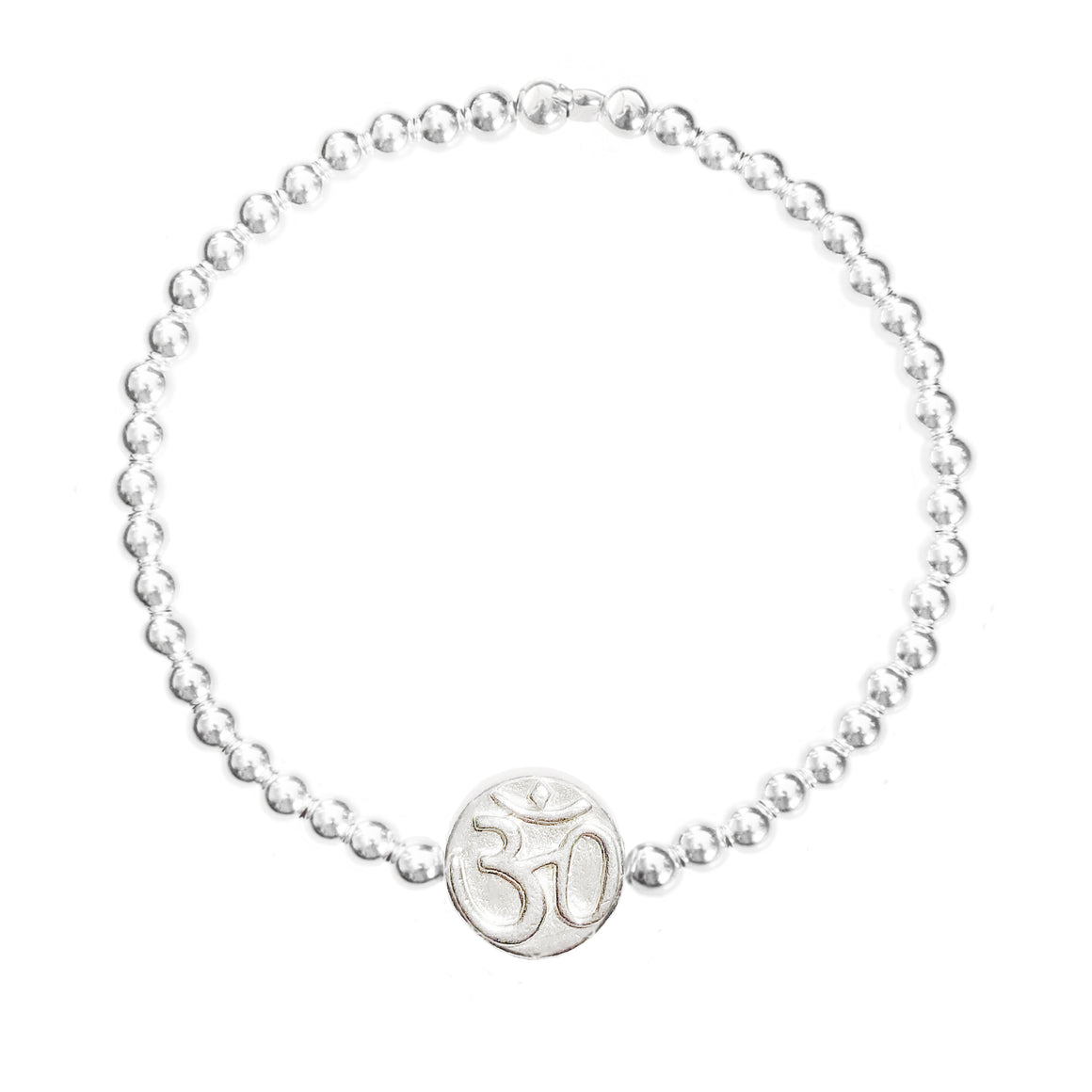 "Om & Lotus  Flower "" GOOD VIBRATIONS"" Bracelet"
