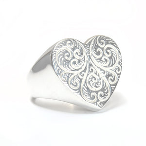 Compassionate Heart Signet Ring