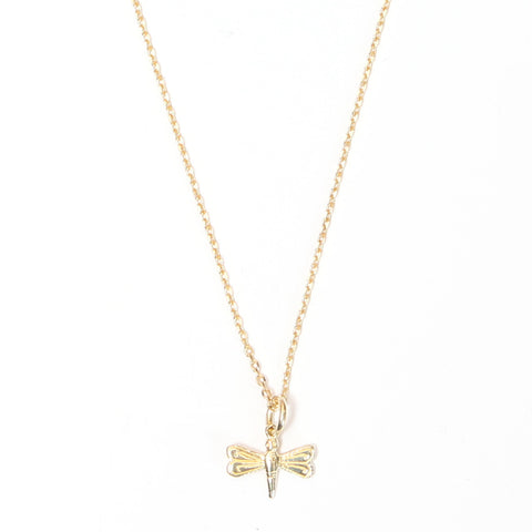 Mini Dragonfly Gold Necklace - Good Charma