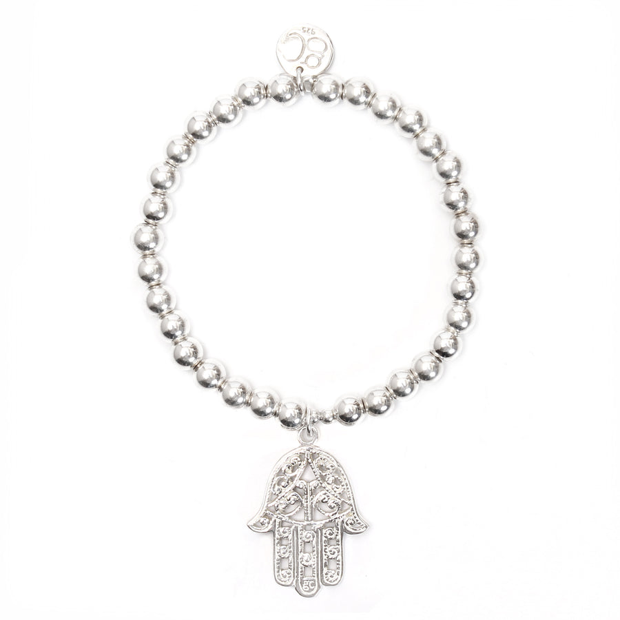Hamsa Medium Ball Bracelet - good charma