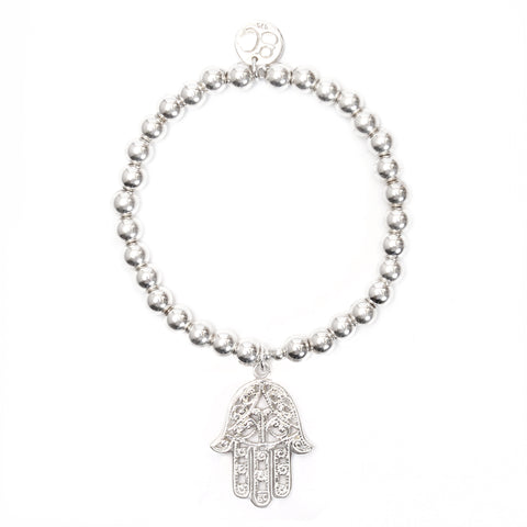 Hamsa Medium Ball Bracelet