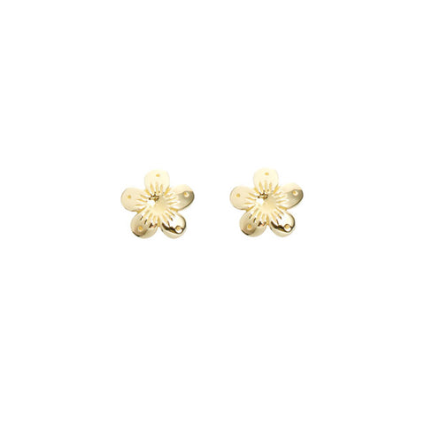 Good Charma Flower Gold Stud Earrings