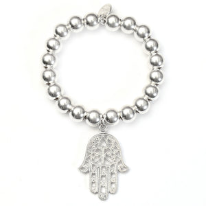 Hamsa Protection Super Ball Bracelet - Good Charma