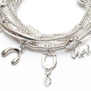 Mini Lucky Bracelet Set in Sterling Silver