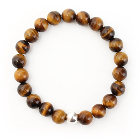 Tigers Eye Bracelet with Sterling Silver Ball