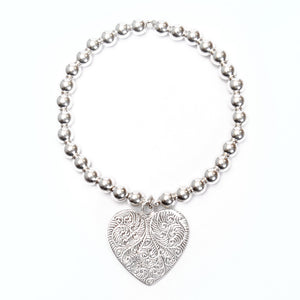 Good Charma Paisley Heart Medium Ball Bracelet