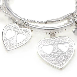 "Hearts ""LOVE"" Bracelet 3-Stack"