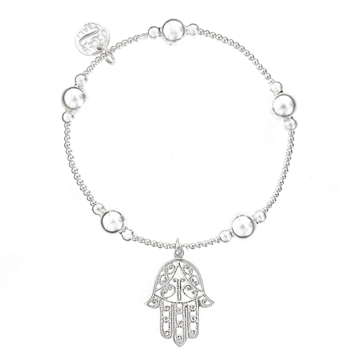 Hamsa Bali Ball Bracelet - good charma